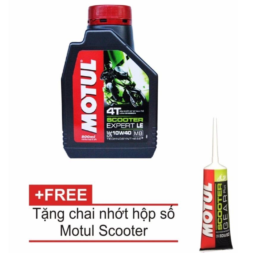 Giá Bán Nhớt Motul Xe Tay Ga Scooter Expert Le 10W40 800Ml Tặng Nhớt Hộp Số Motul Gear Oil 80W90 Motul Trực Tuyến