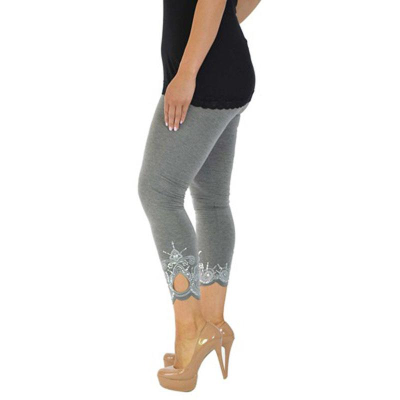 5912192d4b PlusMiss Plus Size 5XL Floral Embroidery Rivet Pencil Pant Women Clothing  Sexy Embroidered Skinny Trousers Large
