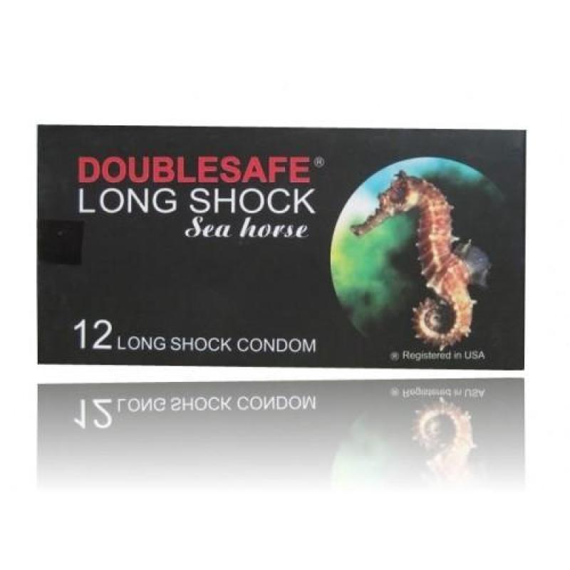 Bao cao su kéo dài thời gian Double safe long shock hộp 12c tốt nhất