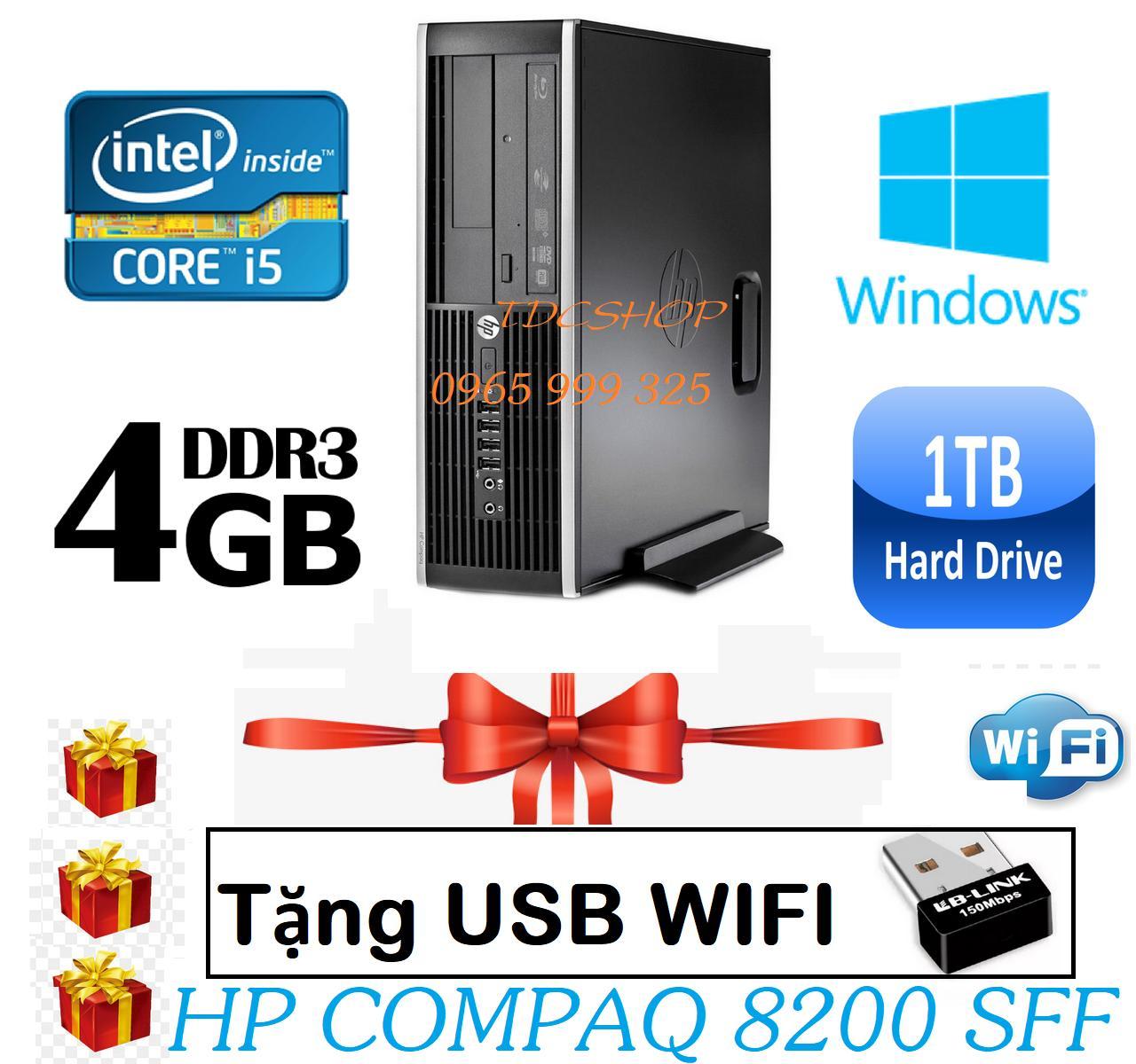 Thùng CPU HP 8200 Core i5 2400/ Ram 4gb/ Hdd 1000gb  - Tặng usb wifi (bảo hành 1 đổi 1 trong 2 năm ) - Hàng Nhập Khẩu.