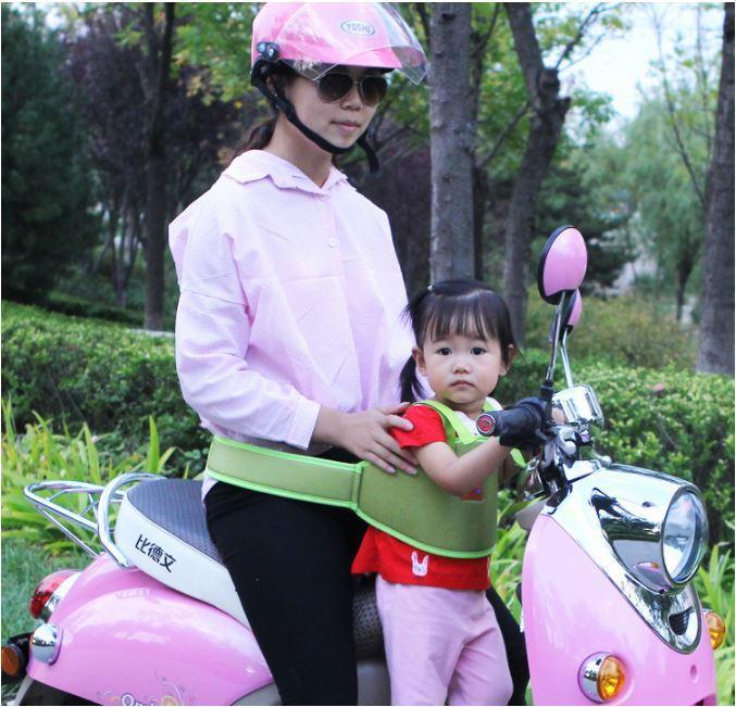 Đai đỡ vai an toàn cho bé đi xe máy hình hoạt hình