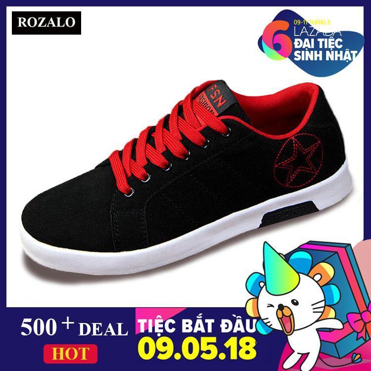 Chiết Khấu Giay Sneaker Nam Rozalo Rmg8607Br Đen Đỏ