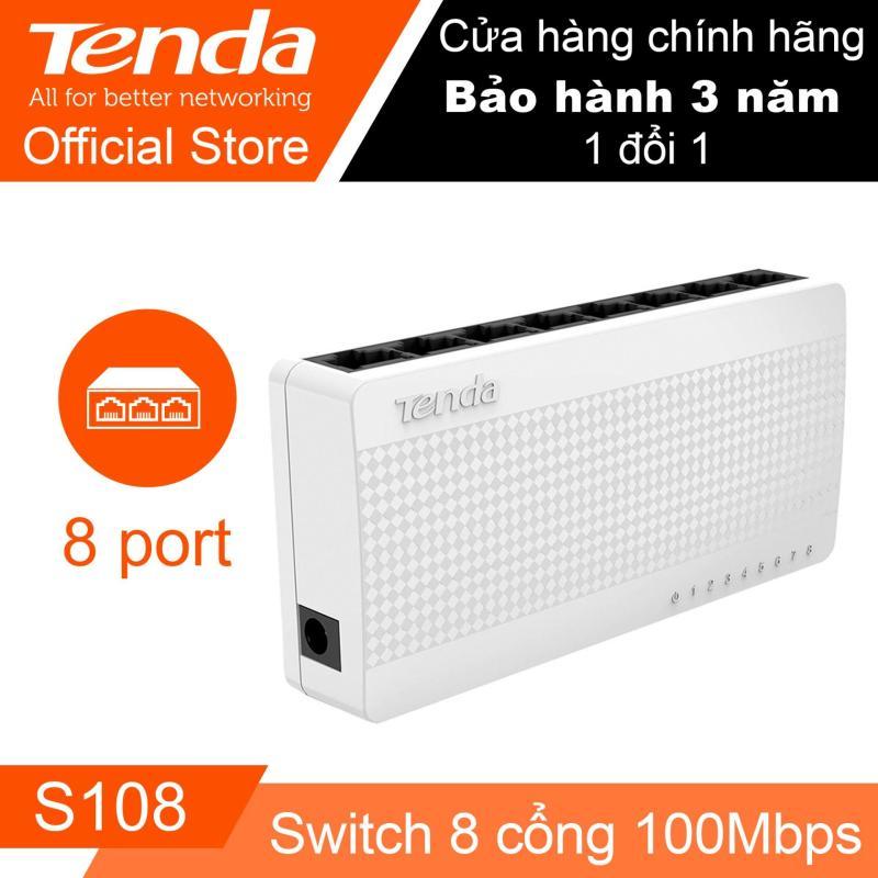 Bảng giá Thiết bị Switch TENDA S108 – Desktop 8 cổng (Trắng) - Hãng Phân phối chính thức Phong Vũ
