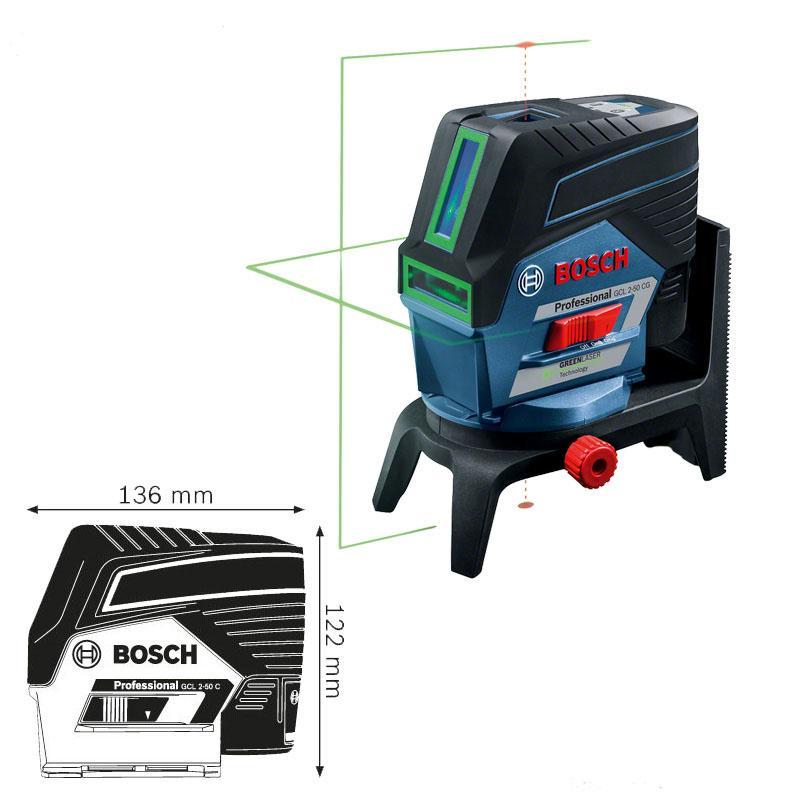 Máy cân mực, GCL 2-50 CG tia xanh (MỚI), 0601066H80, Bosch