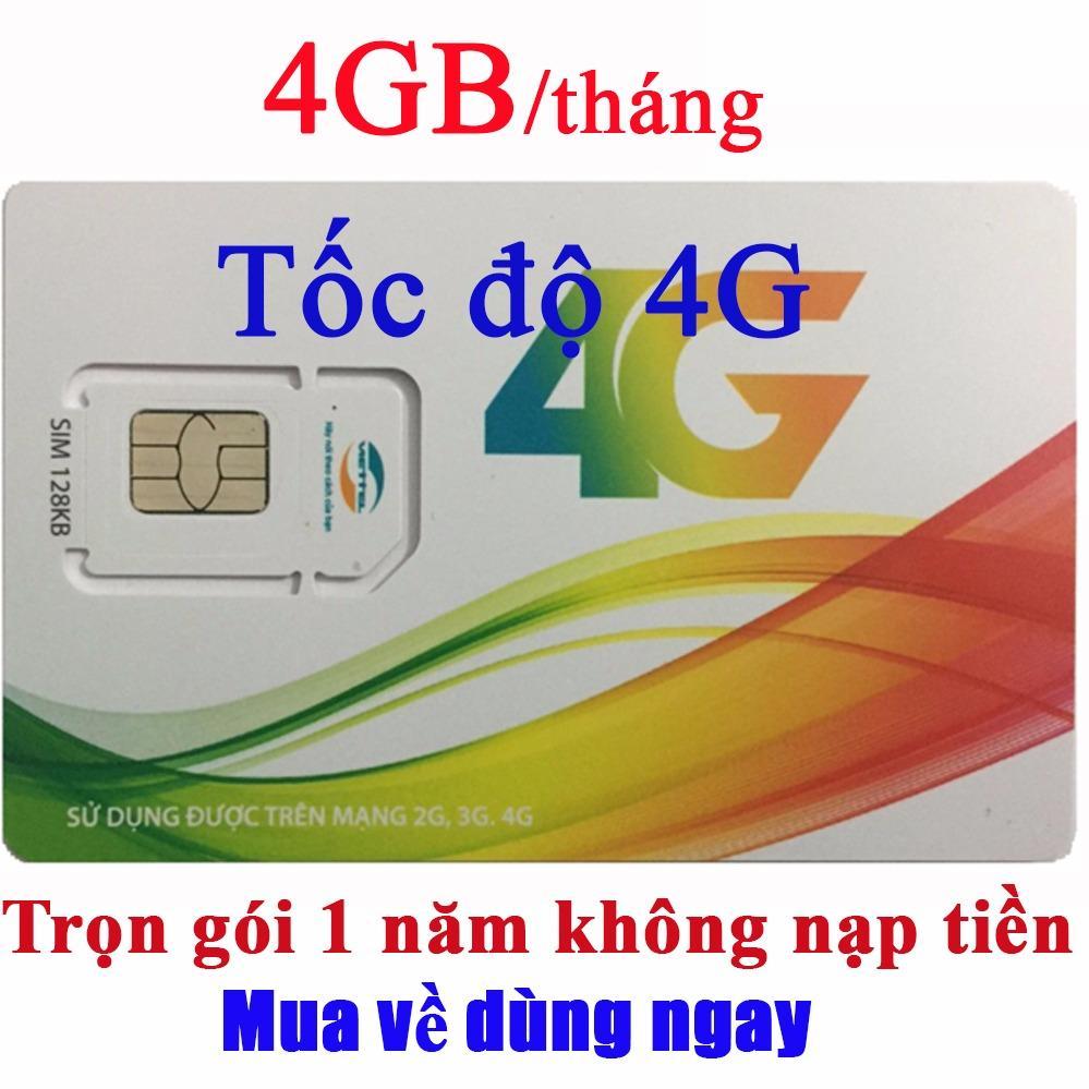 Bán Sim 4G Viettel 4Gb Thang D500 Trọn Goi 1 Năm