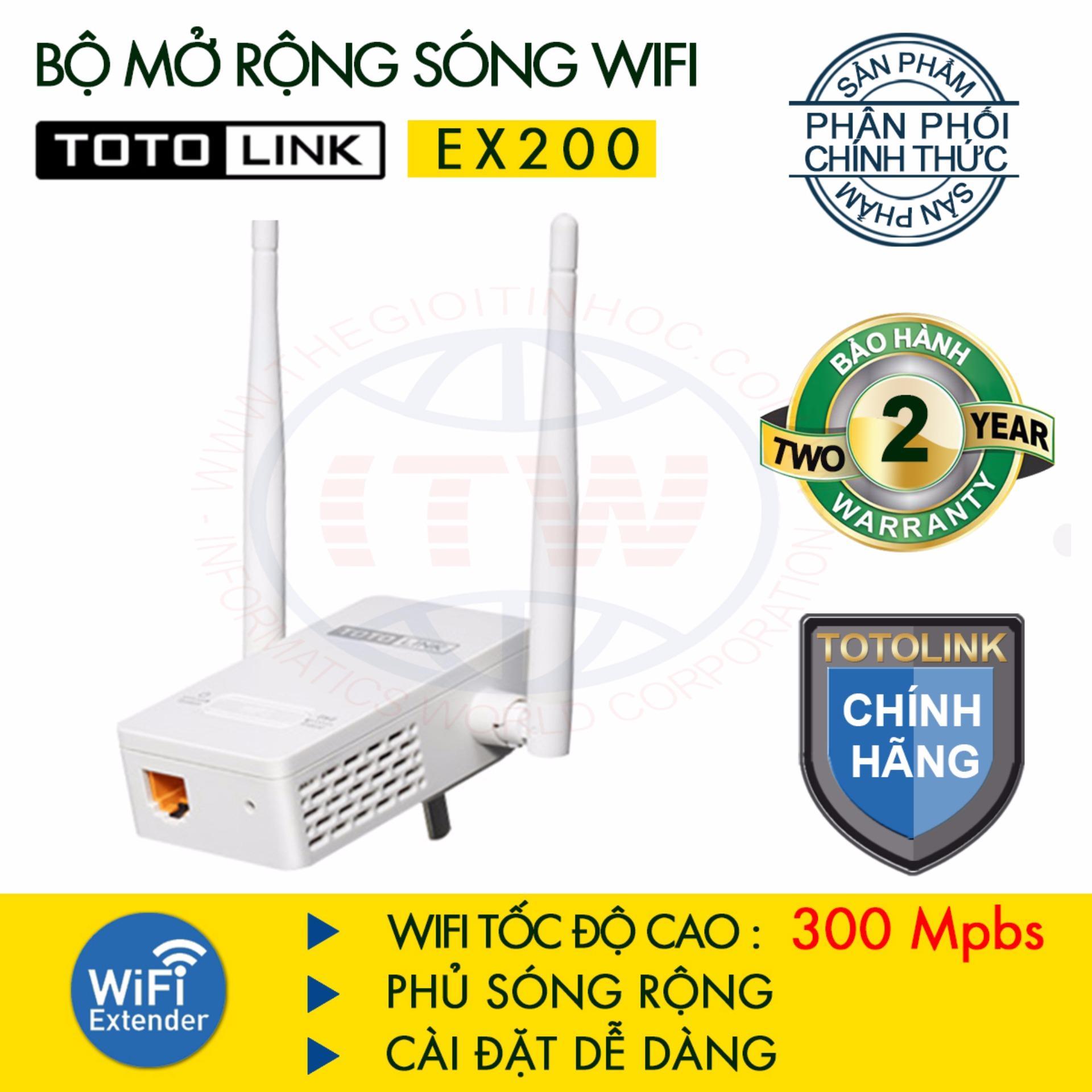Mã Khuyến Mại Bộ Mở Rộng Song Wifi Chuẩn N Tốc Độ 300Mbps Totolink Ex200 Trắng Totolink Mới Nhất