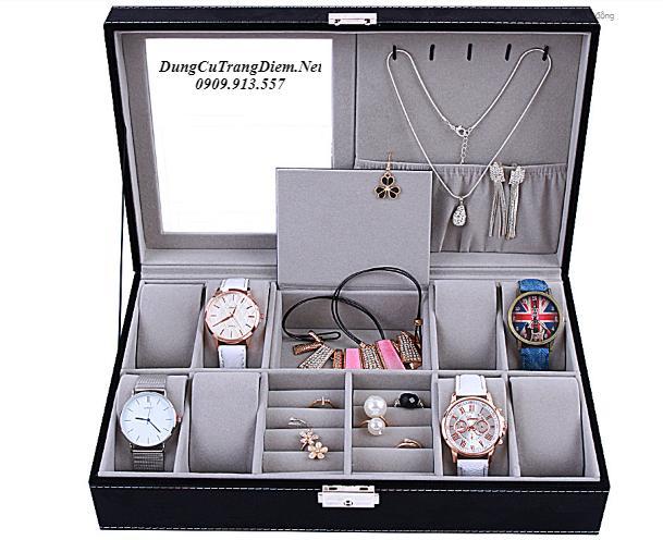 Hộp đựng đồng hồ 8 chiếc và trang sức gương bán chạy