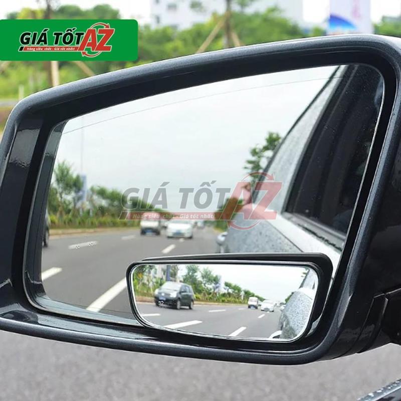 Bộ 2 gương cầu lồi xóa điểm mù, quan sát bánh sau xe ô tô - loại dài cao cấp