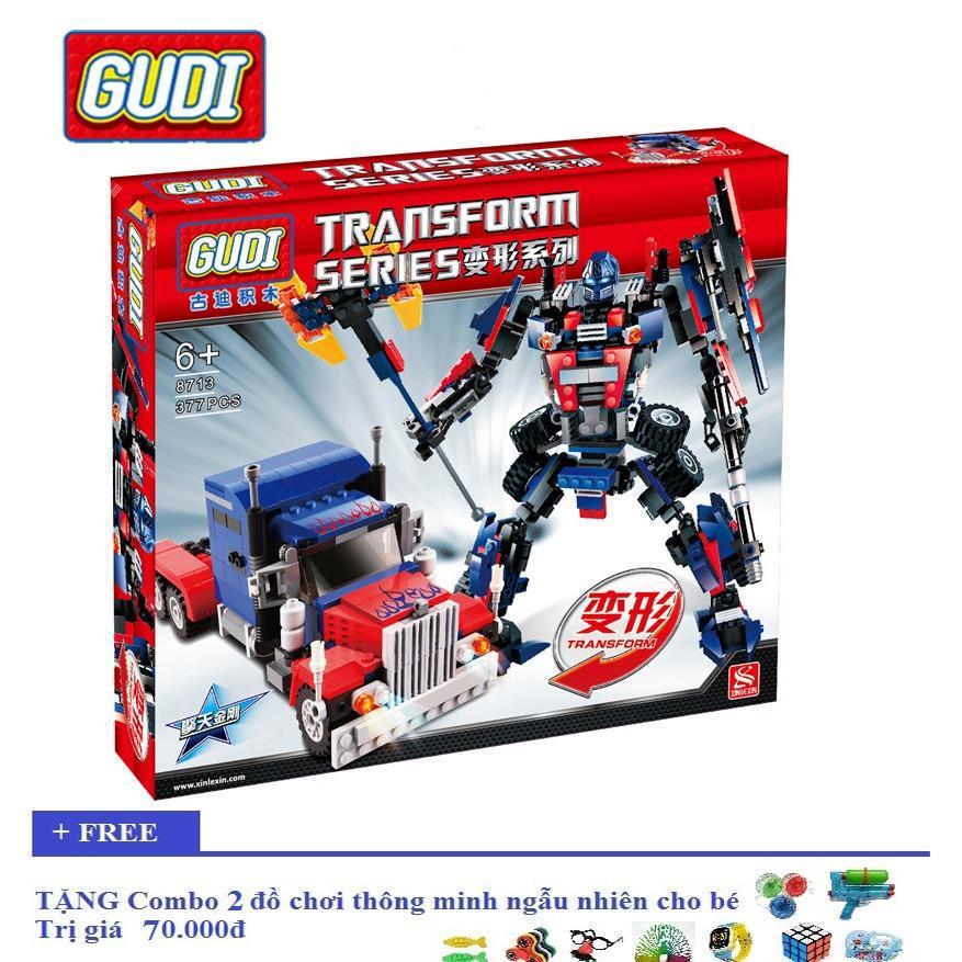Hình ảnh Bộ lego xếp hình robot Transform Series Gudi 8713