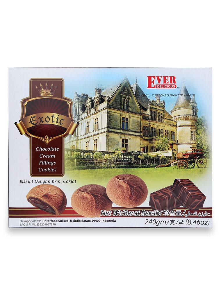 Hình ảnh Bánh Quy Ever Nhân Chocolate Hộp 240G