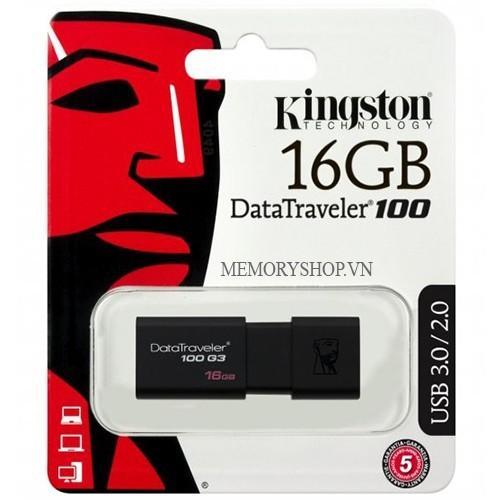 Hình ảnh USB 3.0 16GB Kingston DT 100 G3 - HÀNG CTY - BH 5 NĂM 1 ĐỔI 1