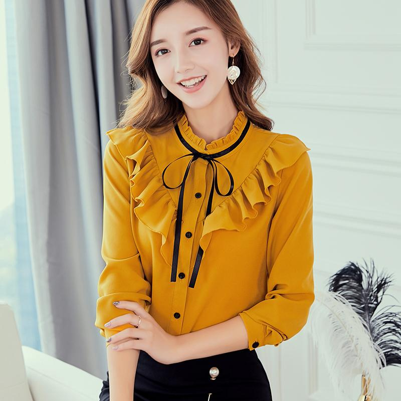 c3c8a249e Caidaifei 2019 Spring And Summer New Style Korean Style Large Size Slimming  Fashion Shirt Leisure women