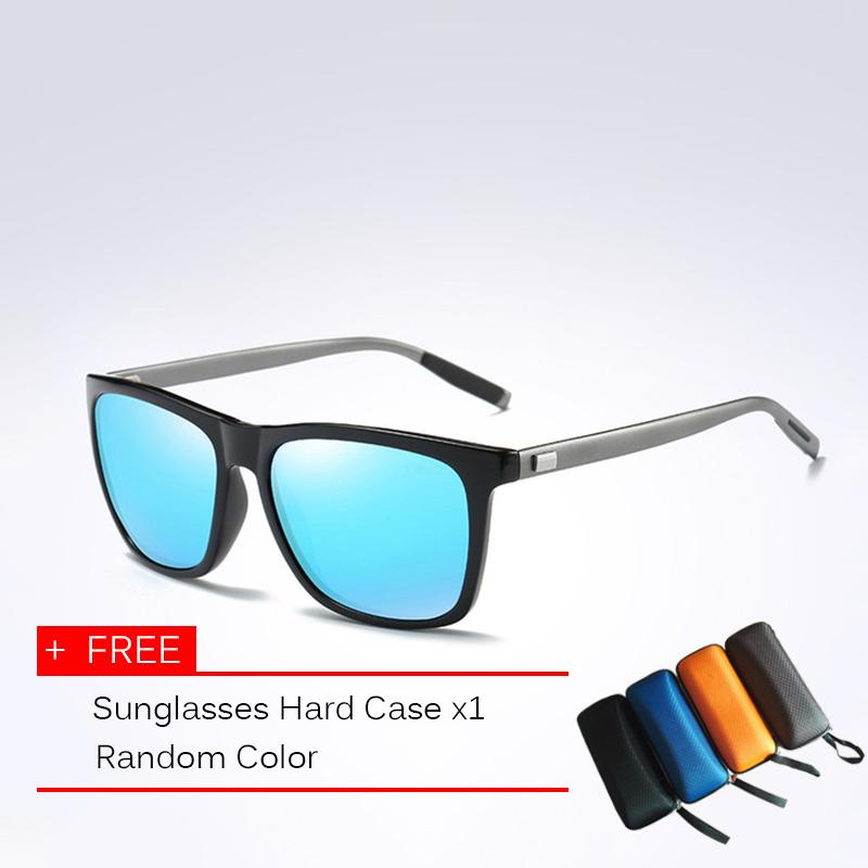 f8b4516bd59 Fashion Classic Brand Design Sunglasses Men HD Polarized Aluminum Driving  Sun glasses for Men Luxury Shades
