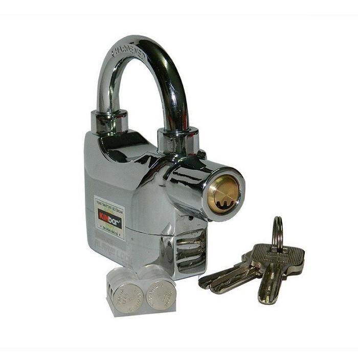 Hình ảnh Ổ khóa báo động chống trộm nhà KINBAR trắng loại 1, BH 12 tháng, tem chống hàng giả