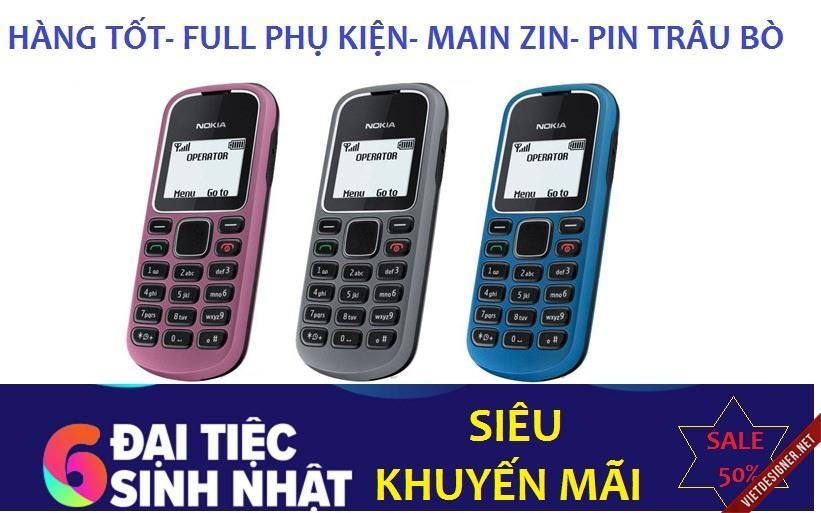Bán Điện Thoại Nokia1280 Hang Tốt Main Zin Pin Xin Full Phụ Kiện Oem Rẻ