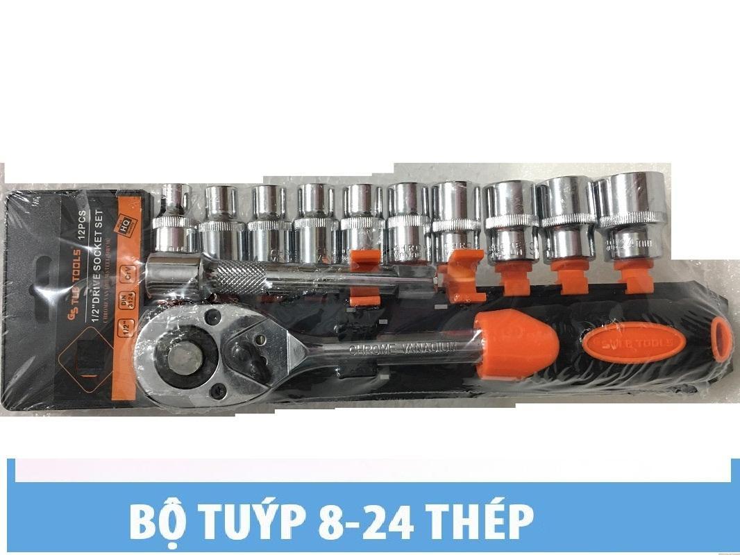 Bộ Khẩu 12 chi tiết ( 8-24mm) - Thép cao cấp