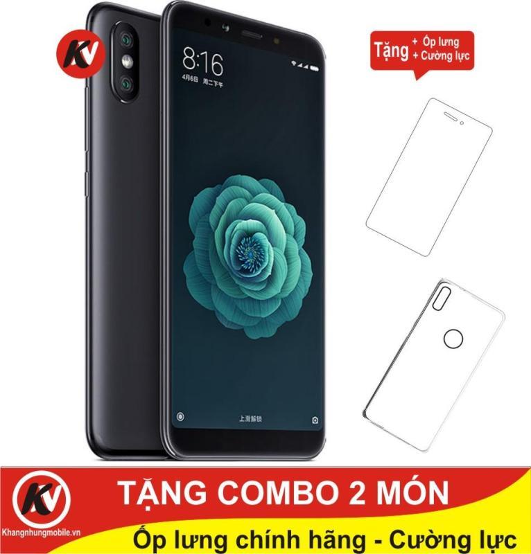 Xiaomi Mi 6X 64GB Ram 4GB Kim Nhung (Đen) - Hàng nhập khẩu + Ốp lưng + Cường lực