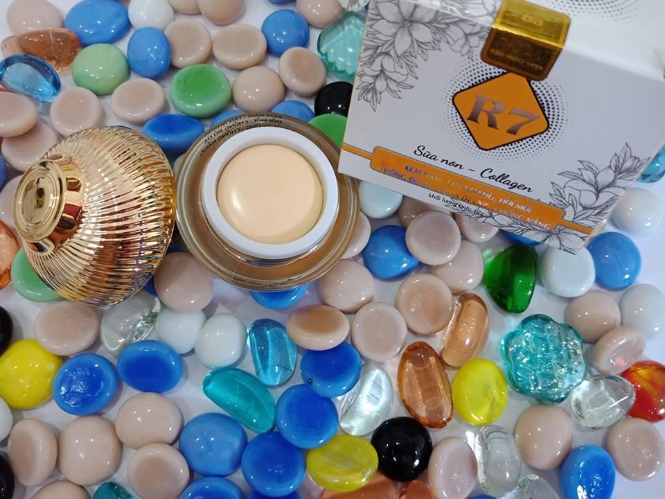 Kem R7 kem nám,tàn nhang,đồi mồi, chống đỏ da,ngừa dị ứng,chống nắng 12g (vàng) chính hãng