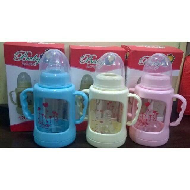 Bình sữa thủy tinh vô trùng chịu nhiệt xuất xứ Thái Lan (120cc) tặng kèm 1 núm vú
