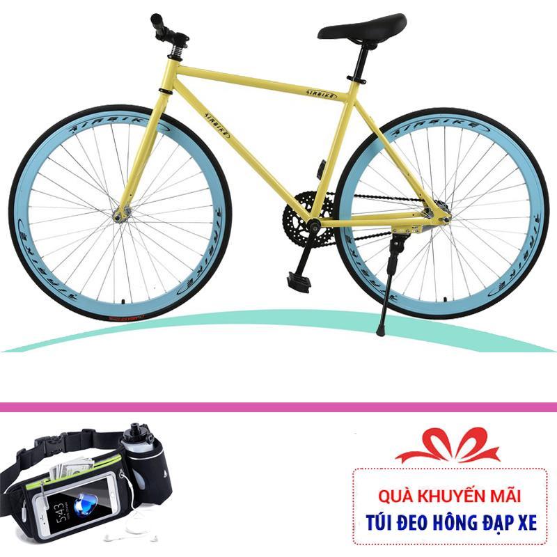 Xe đạp thể thao không phanh giá rẻ Airbike Sport + Tặng túi đeo hông đựng đồ