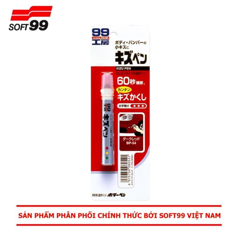 BÚT XÓA XƯỚC SƠN Ô TÔ MÀU ĐỎ ĐẬM KIZU PEN DARK RED BP-54 SOFT99  JAPAN