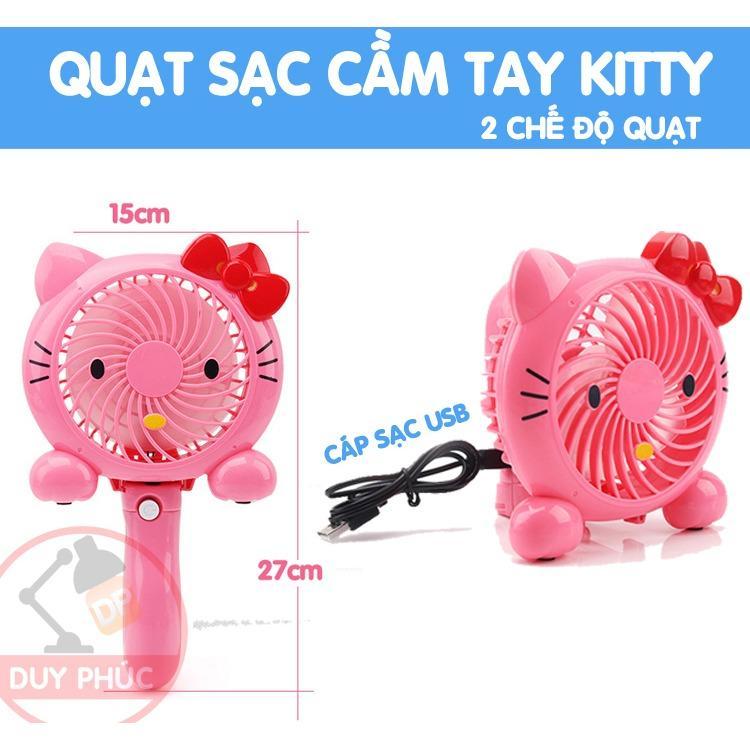 Giá Bán Rẻ Nhất Quạt Sạc Mini Kitty Sieu Mat 2 Chế Độ Quạt Cầm Tay Hoặc Để Ban