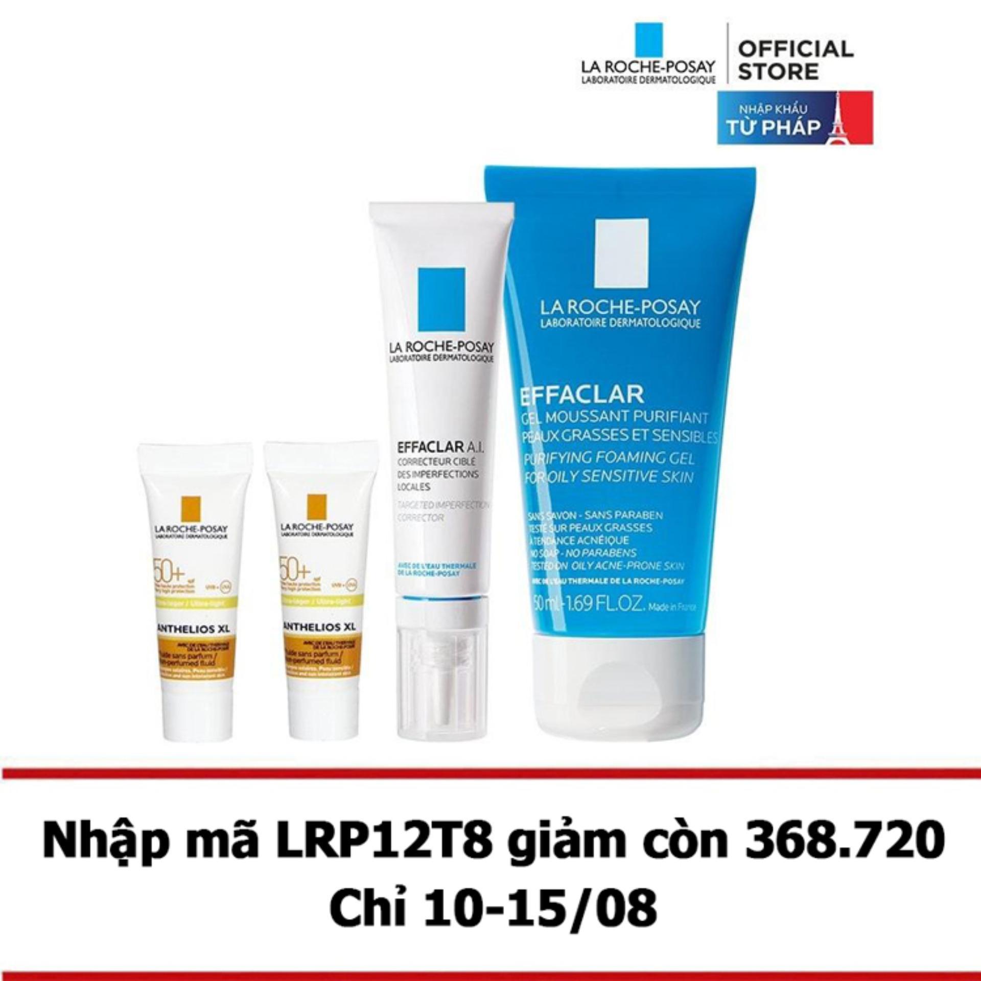 Hình ảnh Bộ sản phẩm giúp giảm mụn chuyên biệt La Roche-Posay Effaclar A.I