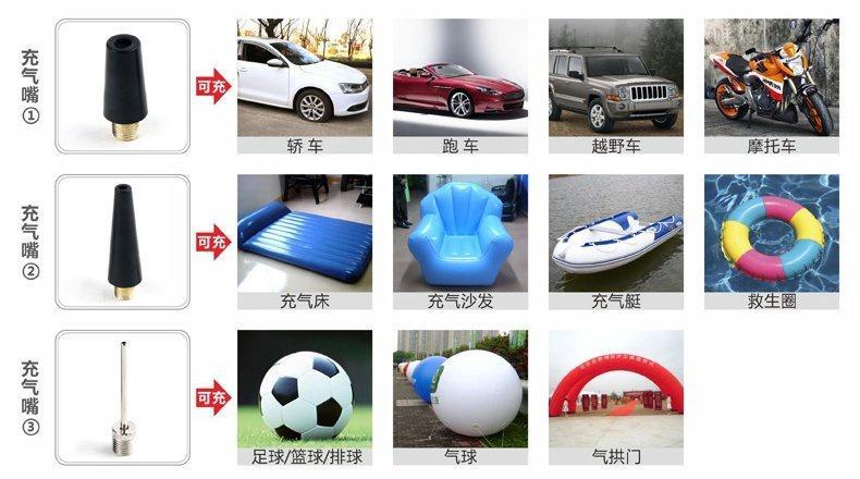 Máy bơm lốp oto xe hơi đa năng kèm bộ phụ kiện vá xe các 2*20*45 4