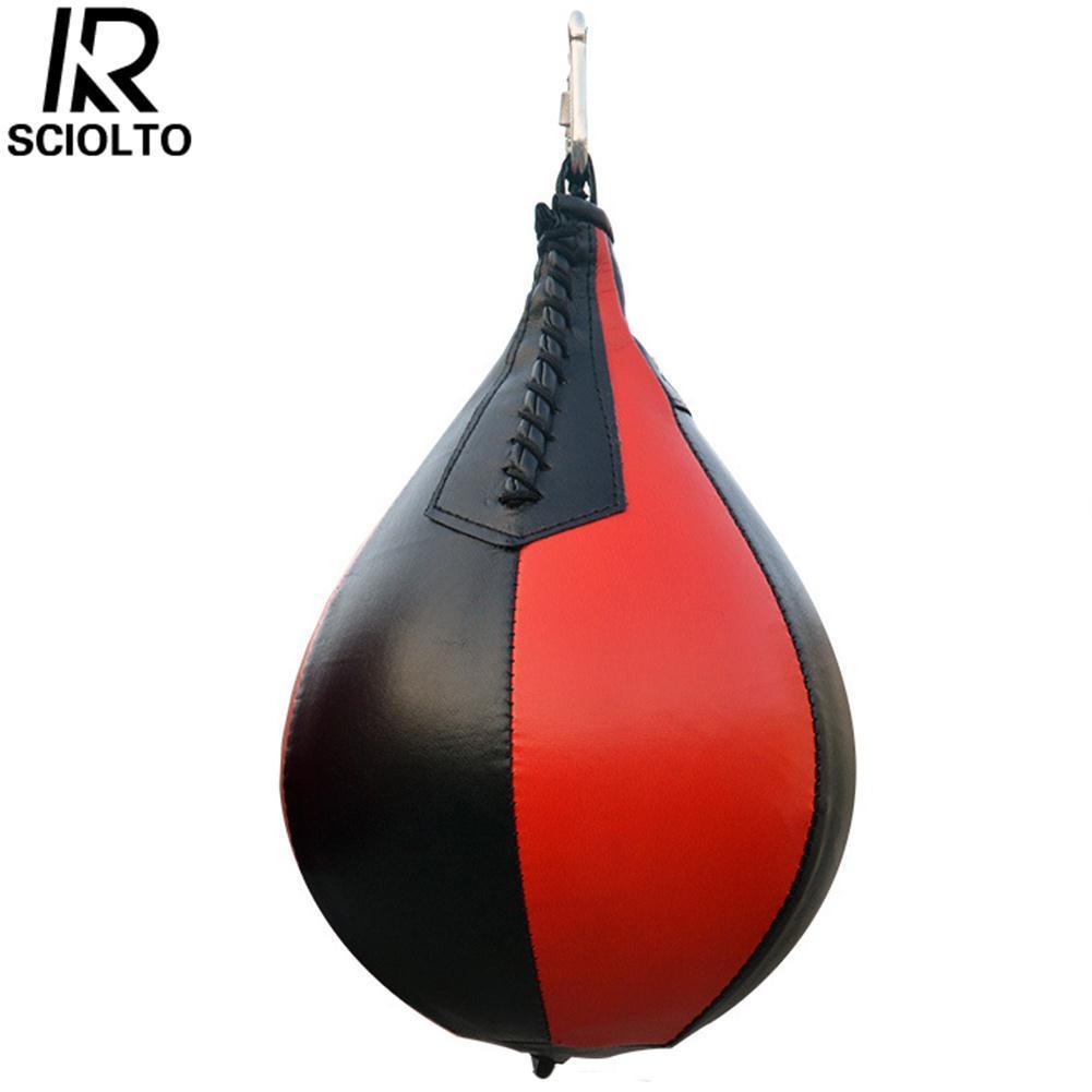 Hình ảnh SCIOLTO SPORTS Boxing Pear Shape Punching Speedball Speed Punch Fitness Training Ball - intl