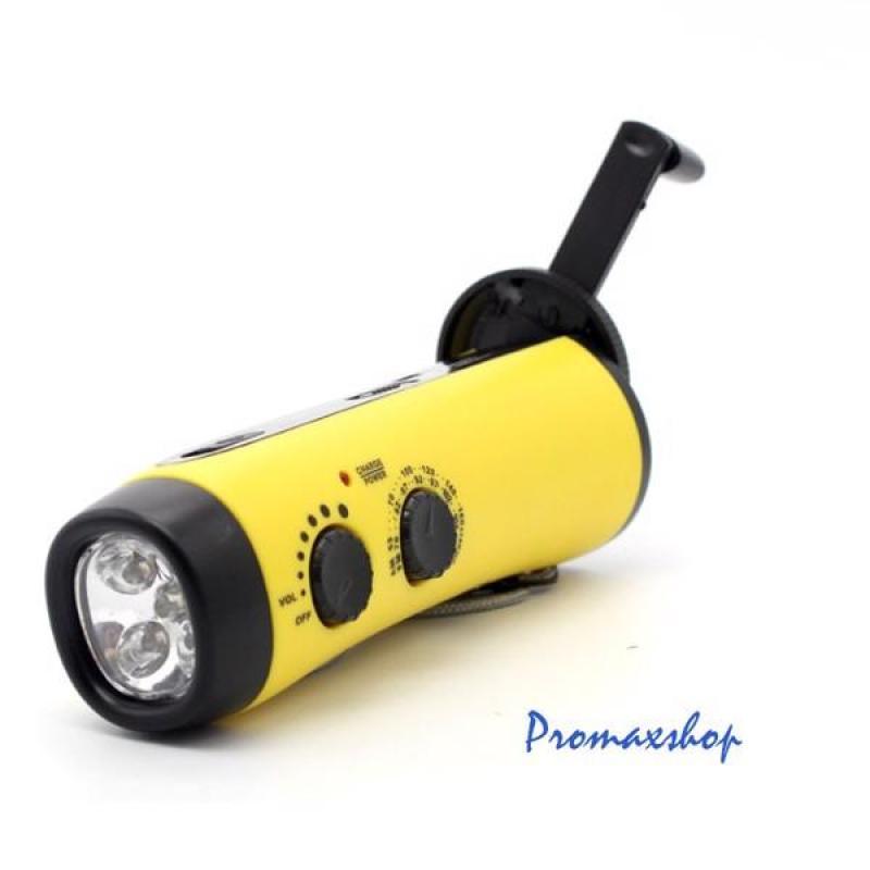 Bảng giá Sạc pin quay tay tích hợp sạc dự phòng, còi báo động, đèn LED, Radio AM, FM Promax