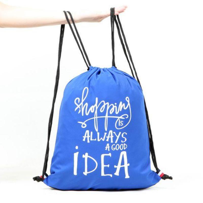 Balo dây rút Shopping is always a good Idea (BLUE)