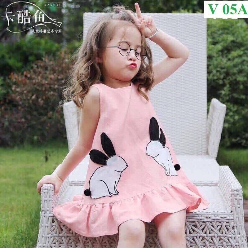 Váy thỏ đáng yêu cho bé gái. (Cho bé từ 9 tháng- 6 tuổi)