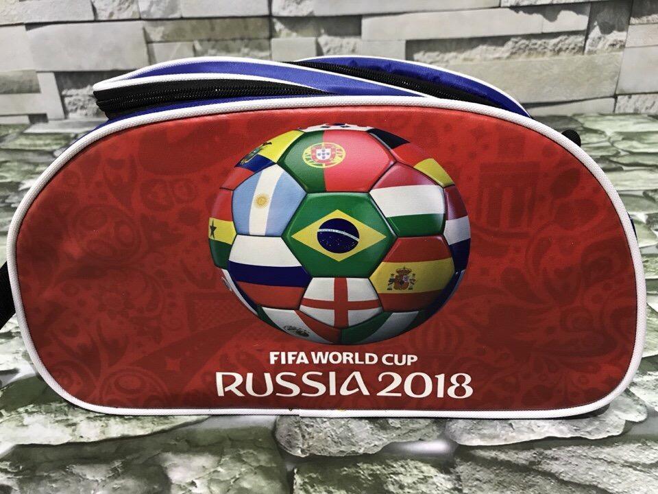 Hình ảnh Túi đựng giày thể thao 2 ngăn 3D World Cup 2018