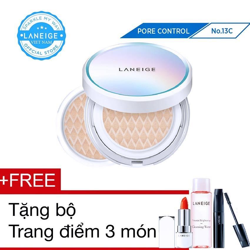 Giá Bán Rẻ Nhất Kem Nền Kiềm Dầu Laneige Bb Cushion Pore Control Spf50 Pa 15G Kem Loi Thay Thế Tặng Bộ Trang Điểm 3 Mon
