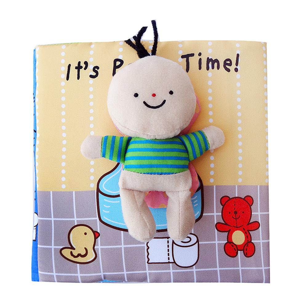Baby Early Learning Soft Cloth Books Animal Embroidery Go to the Toilet Take a Shower Education Toys