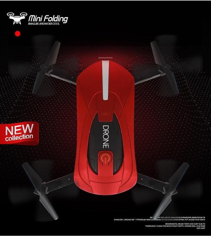 Flycam JY018 - Đỏ huyền thoại - Wifi 2.4 GHz POCKET DRONE hỗ trợ quay phim chụp ảnh Full HD
