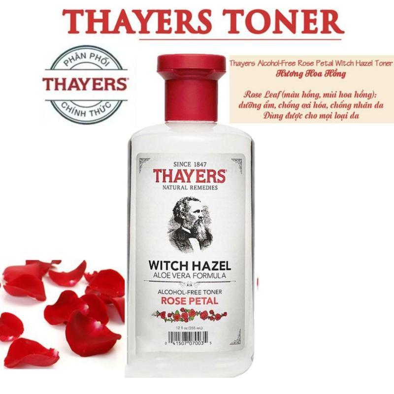 Nước hoa hồng không cồn hương hoa hồng THAYERS Alcohol-Free Rose Petal Witch Hazel Toner 355ml (Dành cho da khô, da thường) cao cấp