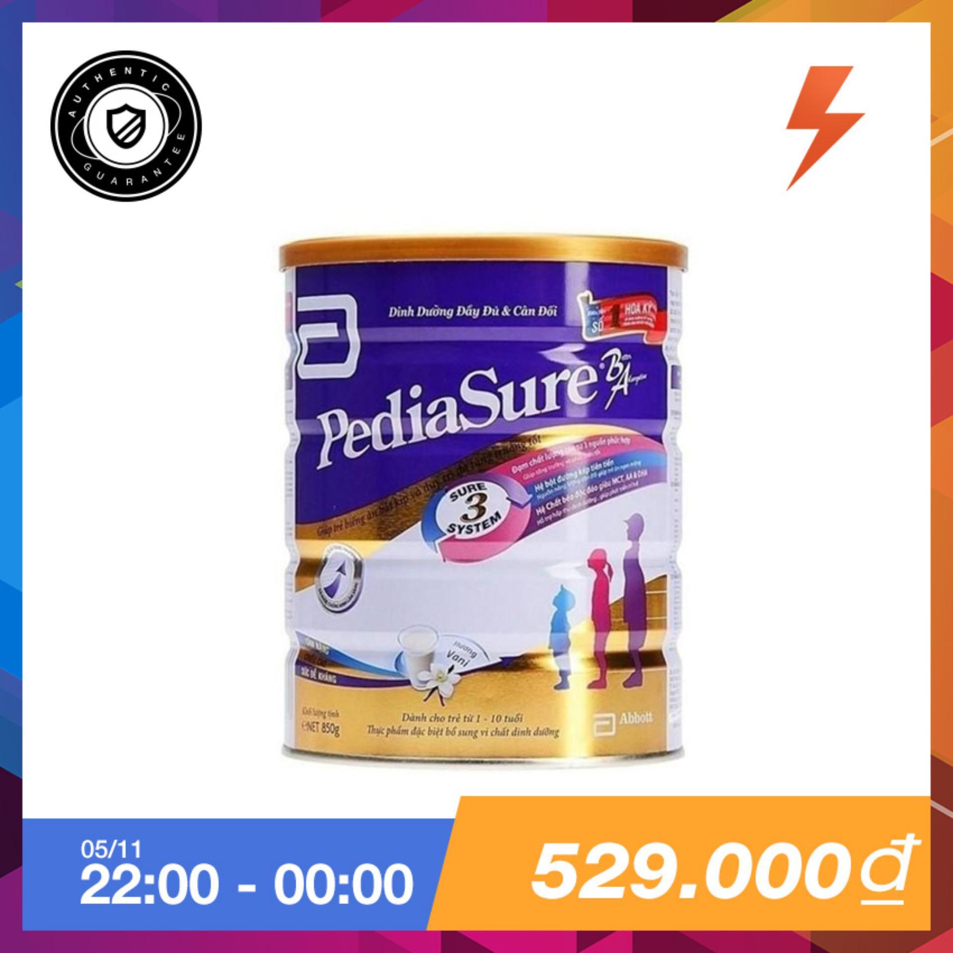 Giá Bán Lon Sữa Bột Pediasure B A Hương Vani 850G Mới