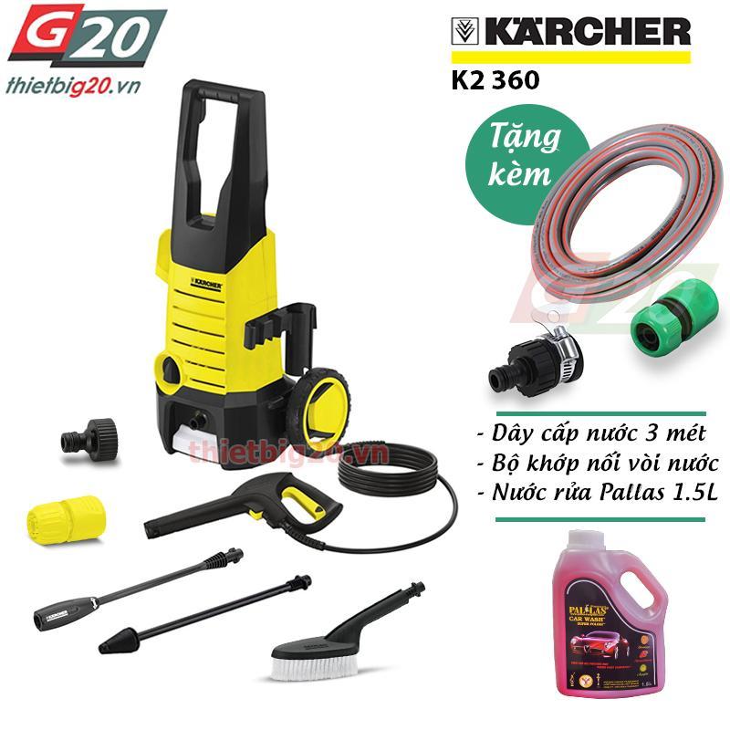 Mua May Rửa Xe Mini Gia Đinh Karcher K2 360 Kap Karcher Nguyên