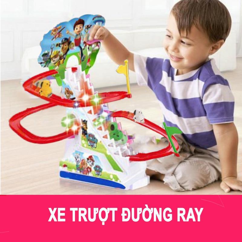 Hình ảnh Đồ chơi cầu trượt đường ray phát nhạc cho bé
