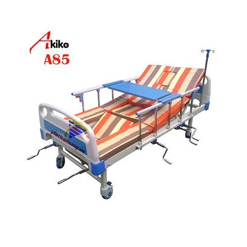 Hình ảnh Giường bệnh nhân đa năng 5 tay quay Akiko A85 có bô vệ sinh