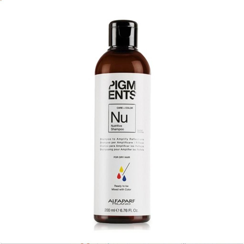 Hình ảnh Dầu gội dưỡng ẩm và làm mới màu cho tóc khô Alfaparf Milano Pigments Nutritive Shampoo 200ml