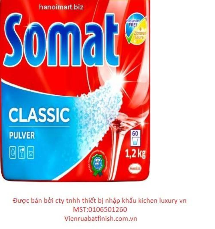 combo 3 sản phẩm bột somat 1,2kg+muối somat 1,2kg+nước làm bóng - Tặng 1 chai làm bóng somat 500ml