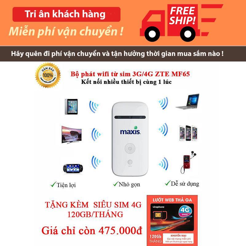 Hình ảnh Bộ phát wifi không dây từ sim 3G/4G ZTE MF65 - Tặng kèm 1 siêu sim 4G