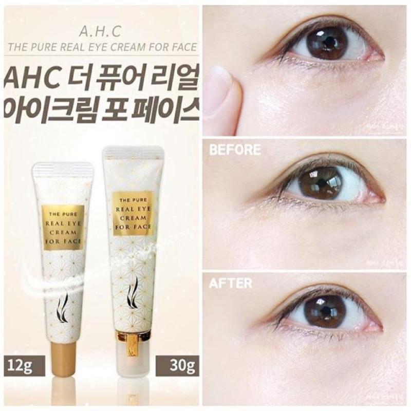 Kem chống nhăn trị thâm quầng mắt AHC The Pure Real Eyecream For Face 30g