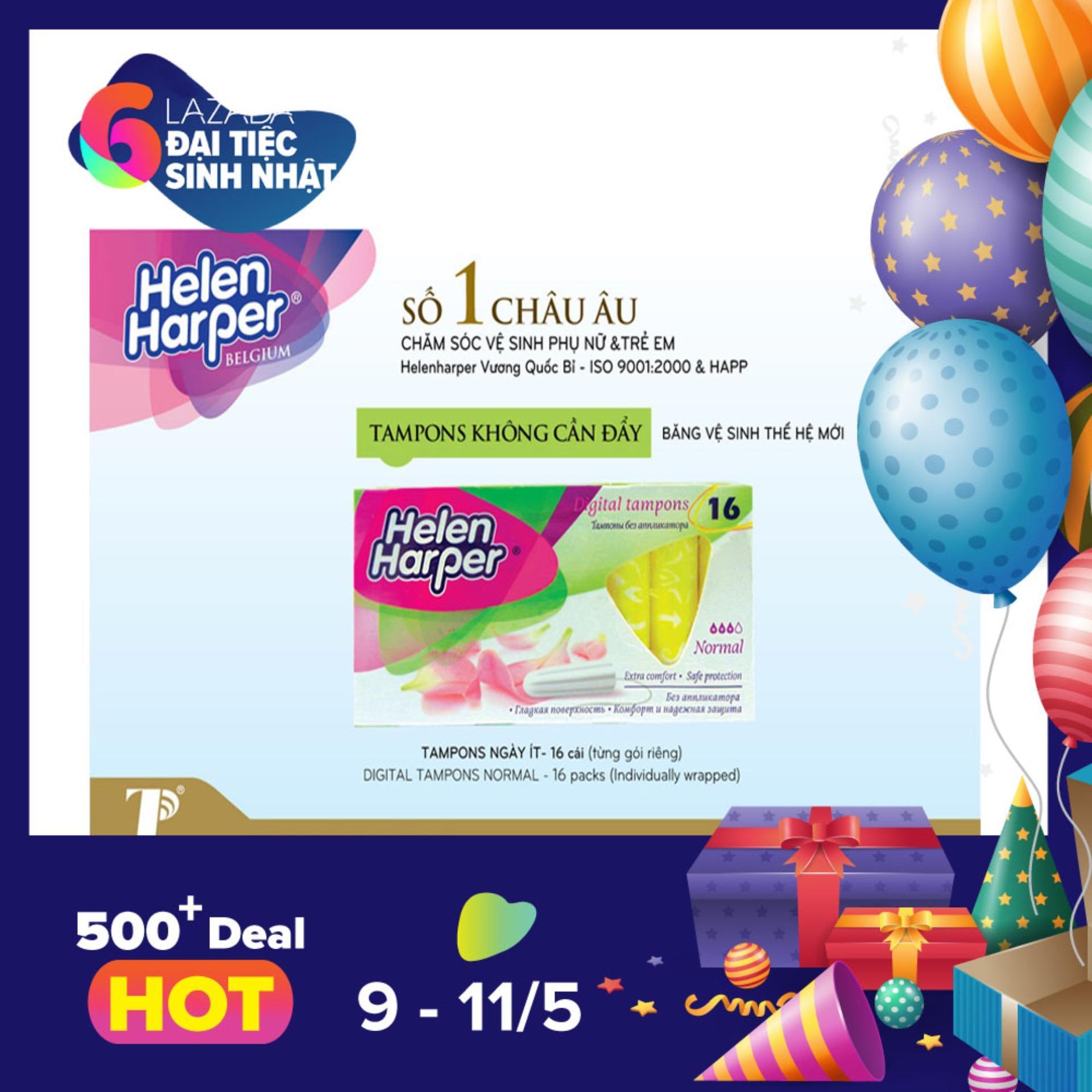Giá Bán Bộ 2 Băng Vệ Sinh Helen Harper Tampon Normal 16 Miếng Dung Ben Trong Bộ 2 32 Miếng Trực Tuyến