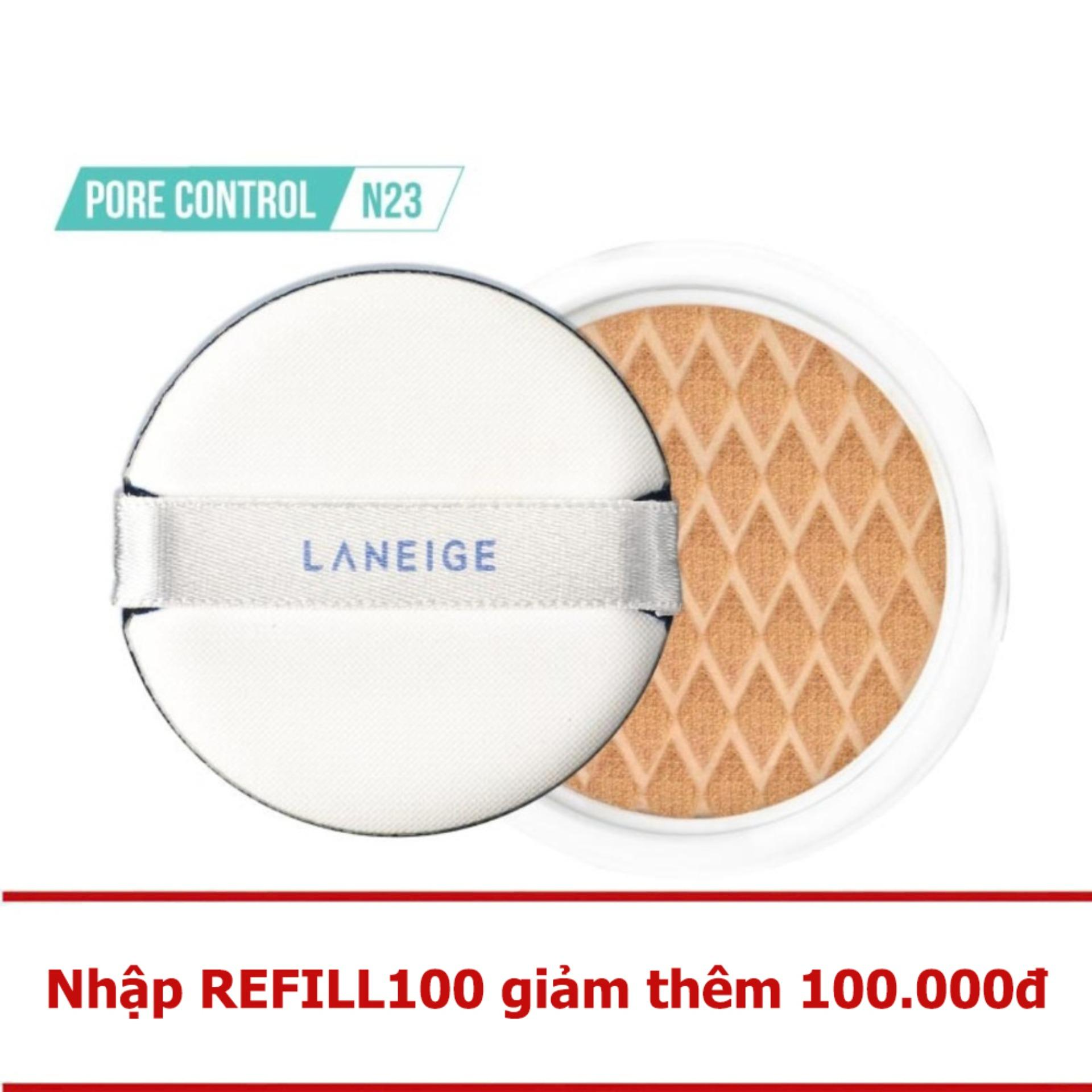 Hot Deal Loi Kem Nền Kiềm Dầu Laneige Bb Cushion Pore Control Ex N23 15G Rẻ
