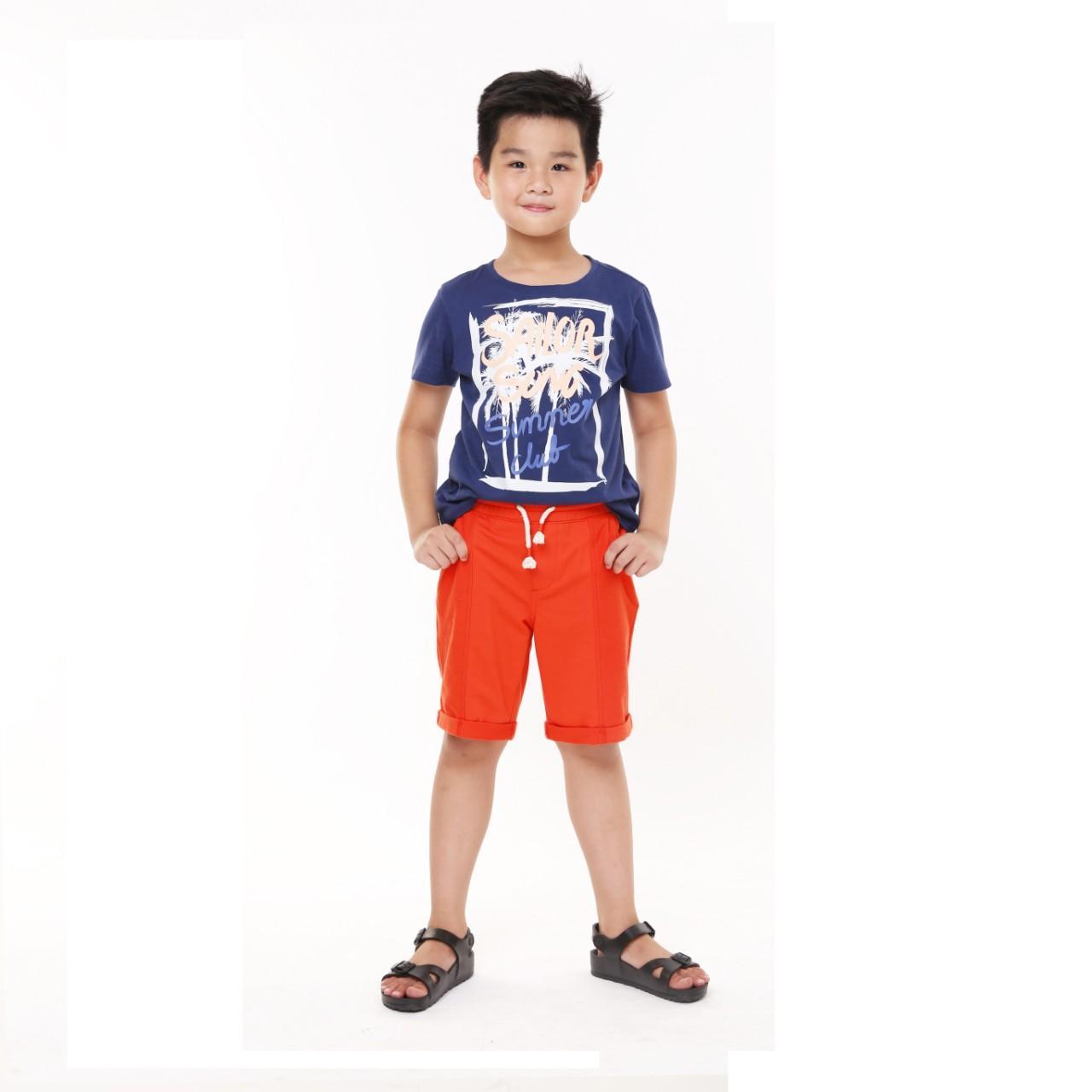 Hình ảnh Quần short thun bé trai (Spicy Orange)