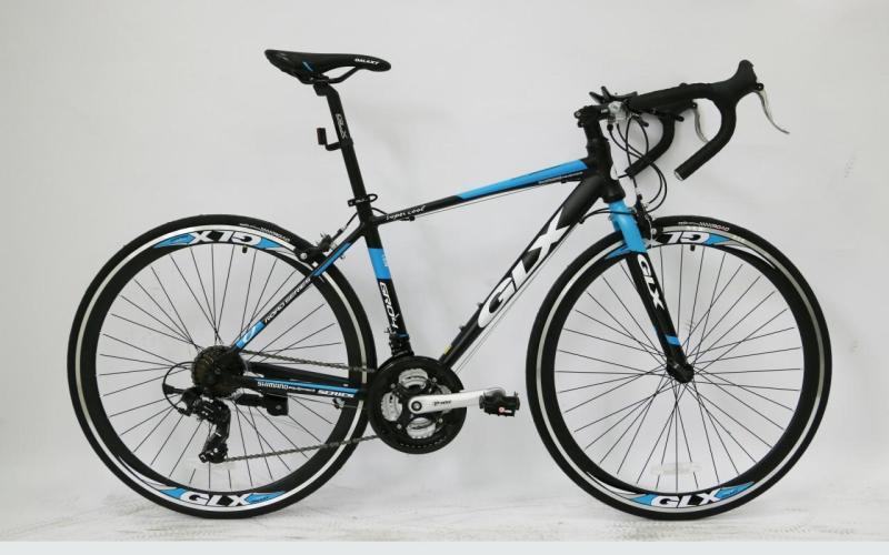 Phân phối Xe Đạp GLX GR 04 xe cuộc màu đen xanh lam dòng cuộc 700C*46mm
