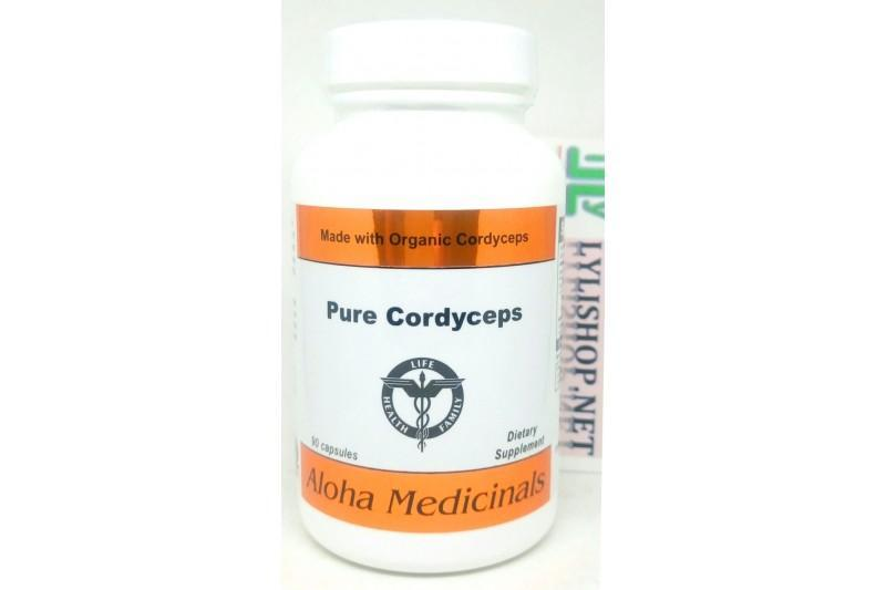 Đông trùng hạ thảo Pure Cordyceps Capsules 525 mg Hãng Aloha Pharmacy chai 90 viên